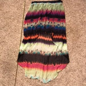 Maurices high low tie dye skirt, small